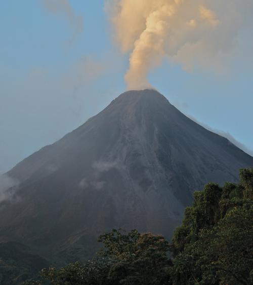 Gorący wulkan na mroźne popołudnie